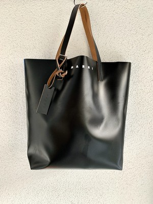 MARNI pe bi-color tote bag