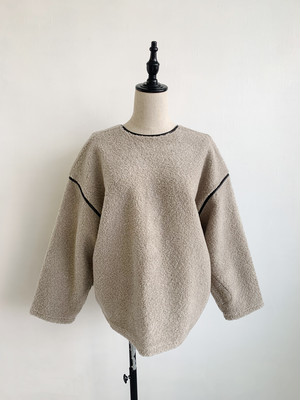 EARIH  BOA BACK BUTTON PULLOVER