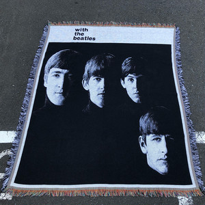 Vintage With The Beatles Blanket Made In England