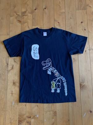 オリジナル刺繍Tシャツ/ガイコツ柄/ネイビーM