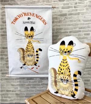 〈東京リベンジャーズ〉マイキー猫&ドラケン猫 タペストリー (Illustrations by 黒ねこ意匠)