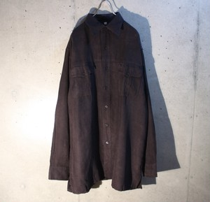 Black Fake Suede Shirt