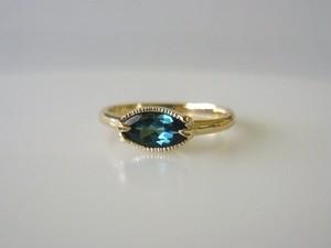 H様オーダーメイドご購入フォーム ブルートルマリンとリーフの指輪