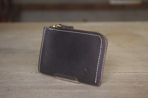 tenohira purse (BLACK×NAVY)