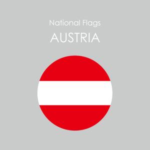 円形国旗ステッカー「オーストリア」