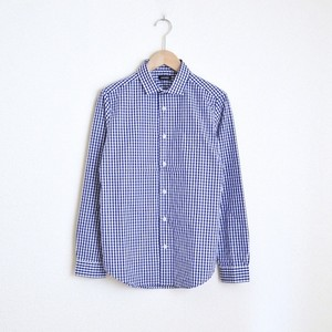 maindish SMALL POCKET CHECK SHIRTS / NAVY
