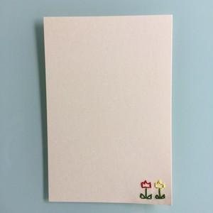 刺繍ポストカード(チューリップ)