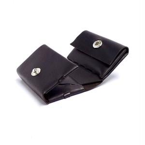 コンパクト三つ折り財布  イタリアンカーフ  ブラウン