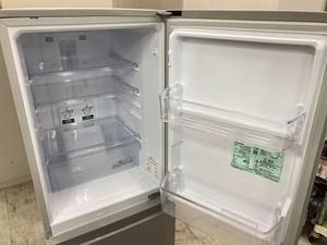 中古 美品 三菱 2ドア冷蔵庫 146L シルバー 右開き 2016年製