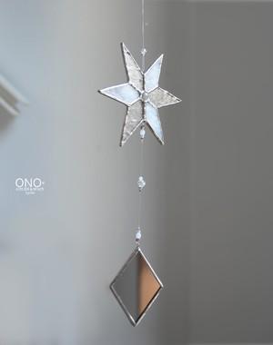 岩田けいこ*ステンドグラス キラキラシリーズ 星とミラー