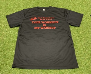 Mac's Trainer Room your workout is my warmingup Tシャツ