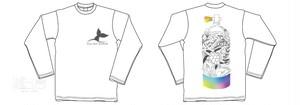 『長袖①』フィンアーティストyurie タンク長袖Tシャツ I love the Ocean