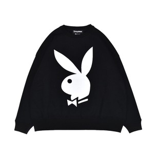 EXAMPLE x PLAYBOY BACK HEART LOGO OVER CREW NECK / BLACK
