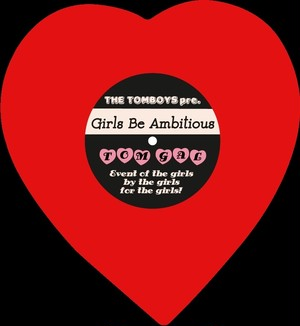 Girls Be Ambitiousハートステッカー