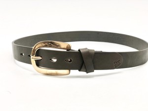Copper Buckle Belt   - CHARCOAL GRAY -