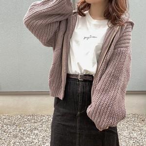 knit zip up[8/25n-3]