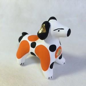 ディムコヴォ村の犬(朱ぶち)(ロシア民芸品)