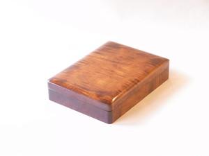 讃岐塗 木製 くりぬき 硯箱 すり漆