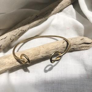Sideknot gold Bangle