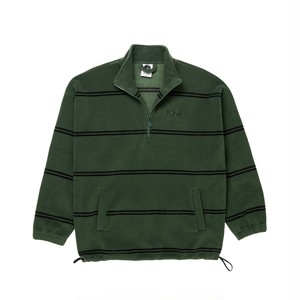 POLAR SKATE CO / STRIPED FLEECE PULLOVER 2.0 -OLIVE-