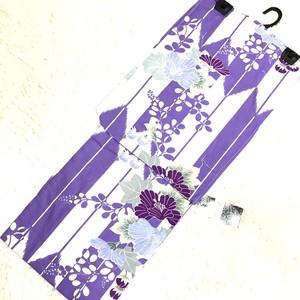 【浴衣 / Yukata】矢絣&花 (Japanese Arrow&Flower)_04(送料無料)