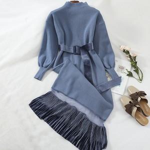 See-through knit dress || シースルーニットワンピース || C91102