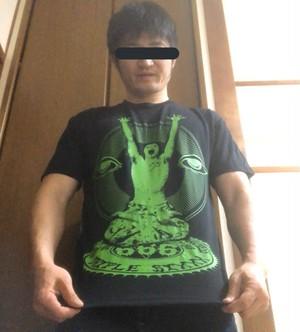 小仲=ペールワン トランスヨガTシャツ 黒