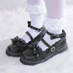 7108パンプス レディース ロリータ シューズ 靴  フラット コスプレ靴  LOLITA レザーシューズ 革靴