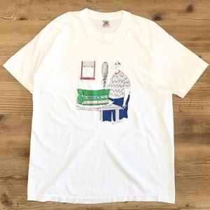 【USED】90s DON BOUSQUET コミック マンガ アート Tシャツ 半袖 白