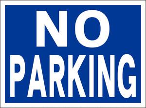 シンプル看板「NO PARKING」屋外可・送料無料