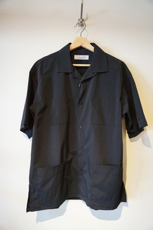 OPEN COLLER SHIRT [ BLACK ]