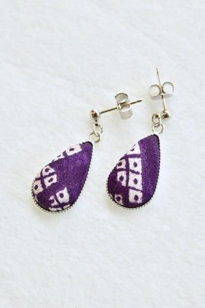 しずくのピアス 紫