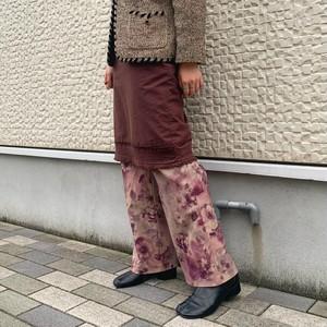 (LOOK) flower print stretch pants