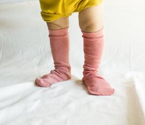 絹コットン靴下 キッズ 茜染め 温活 出産祝い 冷え性 敏感肌 内側シルク100%