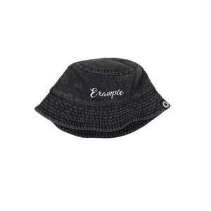 EXAMPLE DENIM BUCKET HAT / BLACK