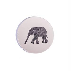 Elephant Profil ゾウ 正円プレート スモール