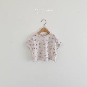 『翌朝発送』flower T-shirt〈aladin kids〉