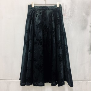 flocky velour skirt