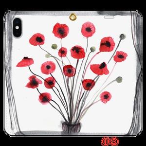 Poppy  ポピー 手帳型 スマートフォンケース