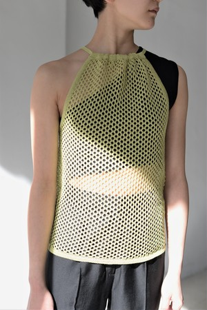 ROOM211 / Mesh Halter neck (yellow)
