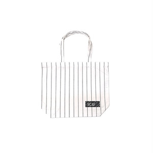 scar /////// BLACKBOX COTTON TWILL TOTE BAG / Small (Pin Stripe)