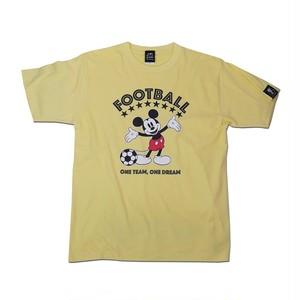 Mickey Mouse コラボ Tシャツ gramo「ONE DREAM」(ライトイエロー/T-022) ※S~Lサイズ