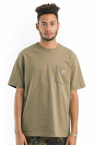 CARHARTT(Tシャツ)Workwear Pocket T-Shirt Desert カーハート(K87)5291-Desert