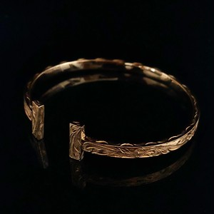 24kgp Hawaiian jewelry bangle(Tsquare)