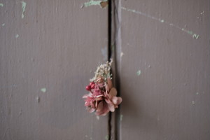 月と雫のミニリース - クランベリーピンク