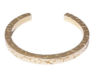 Square Brain Bangle Gold-Coating