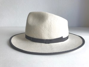 Circle original handmade HAT  「White Fedora hat」