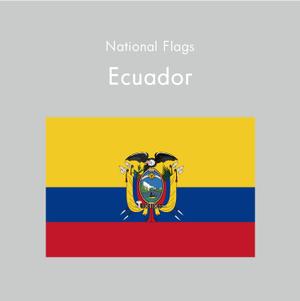 国旗ステッカー エクアドル