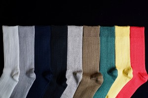 RoToTo / LINEN COTTON RIB SOCKS