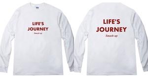 【受注生産】LIFE'S JOURNEY ロンT (ホワイト)